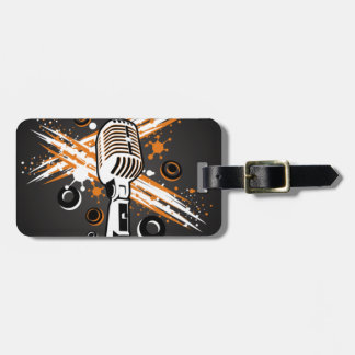 Vintage microphone tags for luggage