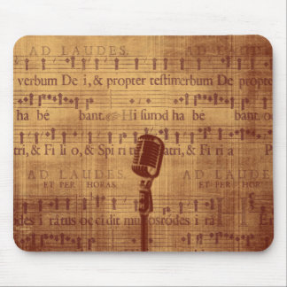 Vintage Microphone Mouse Pad