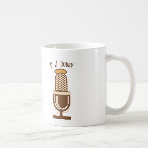 Vintage Microphone Personalized Coffee Mug