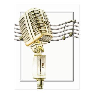 Vintage Microphone Postcard