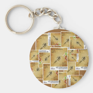 Vintage Microphone Poster Keychain