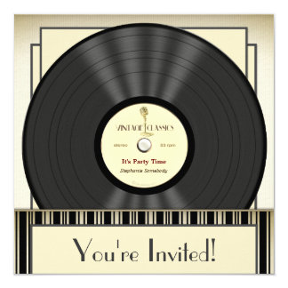 Record Invitations & Announcements | Zazzle