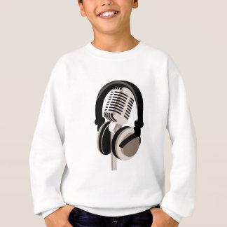 Vintage Microphone with Headphones Sweatshirt