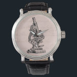 """Vintage Microscope Illustration Pink Steampunk Watch<br><div class=""""desc"""">Personalize with your own name, pattern, design, quote, monogram, or photograph. Use our cool templates, artwork, photos, graphics, and illustrations, then add names, text, quotes, and monograms to create your own cool watch. Click the &quot;Customize it!&quot; button to make it personalized or monogrammed. These customizable wrist watches are great gifts...</div>"""