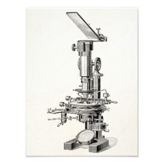 Vintage Microscope Illustration Retro Microscopes Photograph
