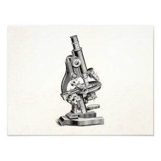 Vintage Microscope Illustration Retro Steampunk Photo Print
