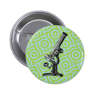 Vintage Microscope Pop Art Pinback Buttons