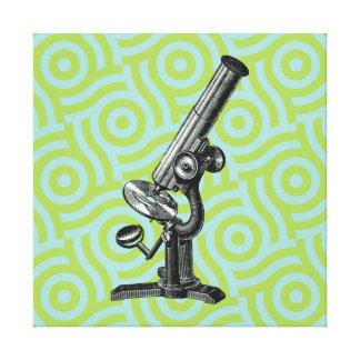 Vintage Microscope Pop Art Canvas Print