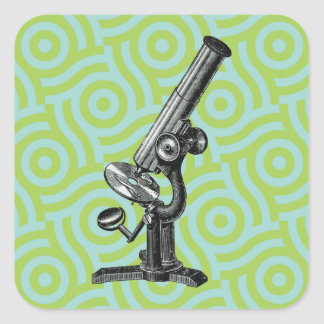 Vintage Microscope Pop Art Sticker