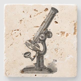 Vintage Microscope Stone Coaster