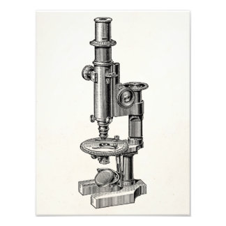Vintage Microscopes Old Antique Science Microscope Photo Print