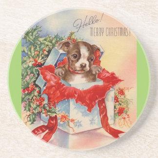 Vintage Mid Century Beautiful Baby Boston Terrier Coaster