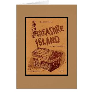 Vintage Mid-century Tiki Menu Card