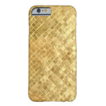 Vintage Mid Fifties gold texture Barely There iPhone 6 Case