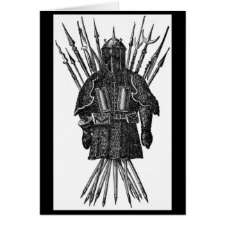 Vintage - Middle Ages Pole Weapons Card