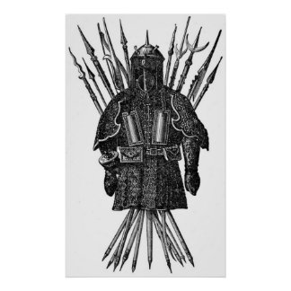 Vintage - Middle Ages Pole Weapons Poster