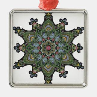 Vintage  Middle Eastern Arabic Pattern Christmas Tree Ornament
