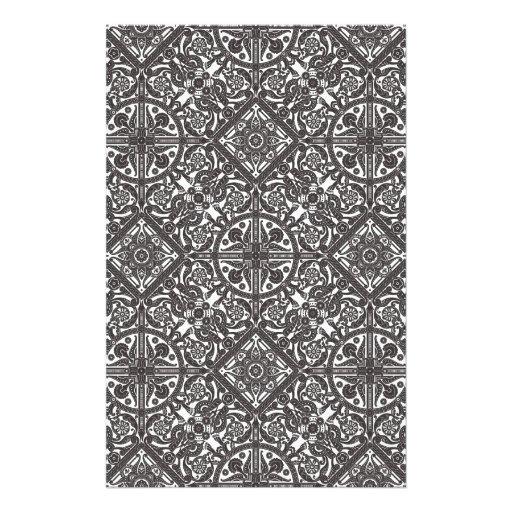 Vintage Middle Eastern Arabic Pattern Stationery Design
