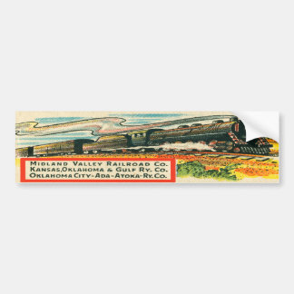 Vintage Midland Valley Railroad Bumper Sticker