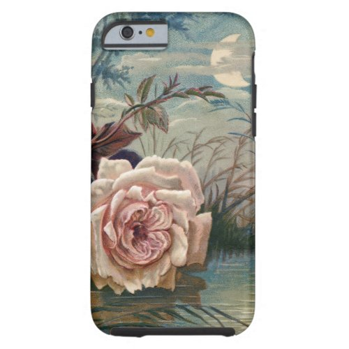 Vintage Midnight Rose and Moon Phone Case