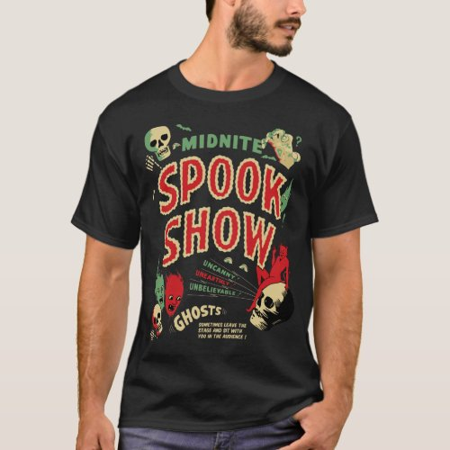 Vintage Midnite Spook Show Poster T-Shirt Sales