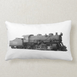 Vintage Mikado Steam Train Engine Lumbar Pillow