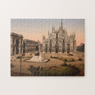 Vintage Milan Cathedral and Piazza Italy Puzzles