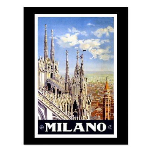 Vintage Milano Postcard