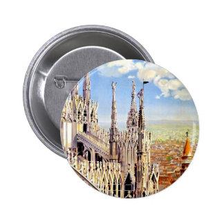 Vintage Milano Travel Button