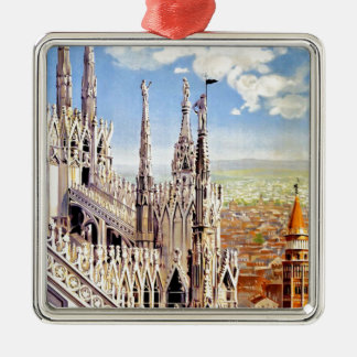 Vintage Milano Travel Metal Ornament