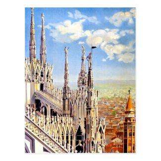 Vintage Milano Travel Postcard