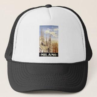 vintage-milano-travel-poster trucker hat