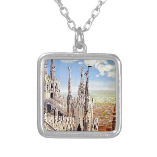 Vintage Milano Travel Silver Plated Necklace