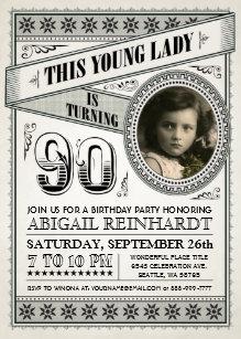 milestone birthday invitations zazzle