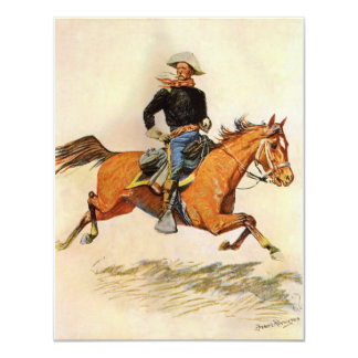 Vintage Military, A Cavalry Officer by Remington 4.25x5.5 Paper Invitation Card