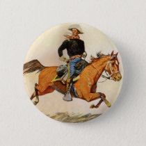 Vintage Military, A Cavalry Officer by Remington Button