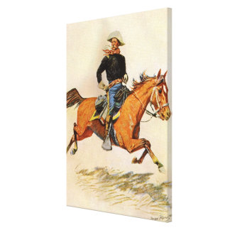 Vintage Military, A Cavalry Officer by Remington Canvas Print