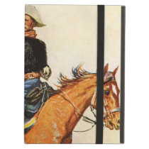 Vintage Military, A Cavalry Officer by Remington Case For iPad Air