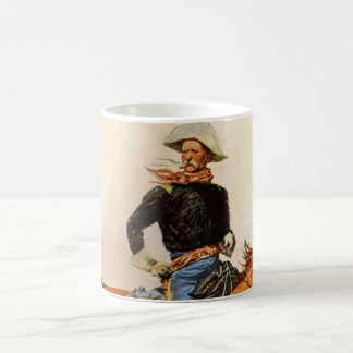 Vintage Military, A Cavalry Officer by Remington Coffee Mug