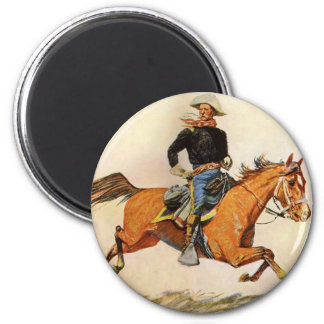 Vintage Military, A Cavalry Officer by Remington Magnet