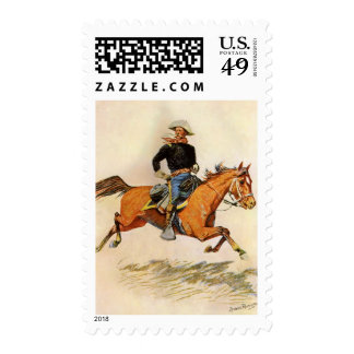 Vintage Military, A Cavalry Officer by Remington Postage