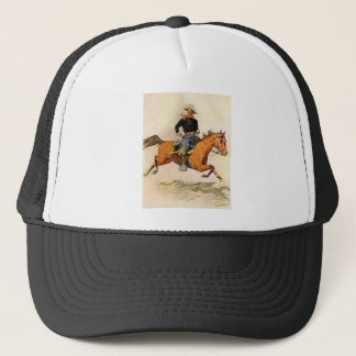 Vintage Military, A Cavalry Officer by Remington Trucker Hat