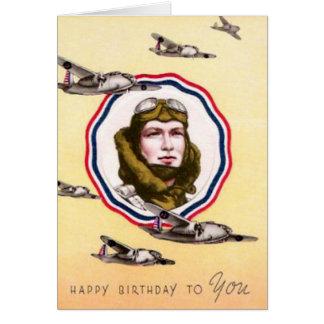 Vintage Military Air Force Birthday Card