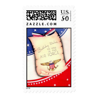 Vintage Military Air Force Birthday Postage Stamps