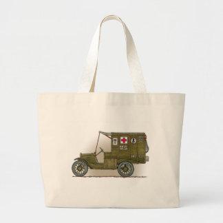 Vintage Military Ambulance Jumbo Tote Bag