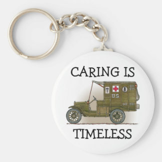 Vintage Military Ambulance CIT Key Chain