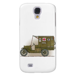 Vintage Military Ambulance Cover Galaxy S4 Cases