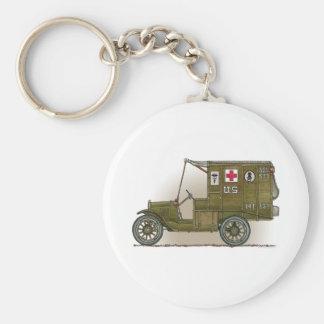 Vintage Military Ambulance Keychain