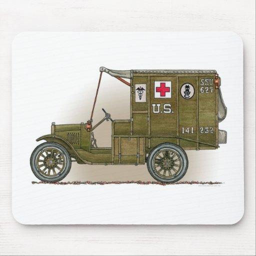 Vintage Military Ambulance Mouse Pad