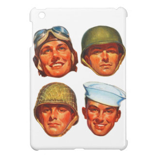 Vintage Military Army Navy Marines Airforce Men iPad Mini Cases
